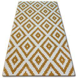 Teppich SKETCH - F998 Gold/Sahne - Quadrate