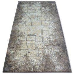 Teppich ARGENT - W2601 Quadrate Rechteck Blau / Beige