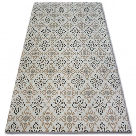 Teppich ARGENT - W4949 Blumen Sahne