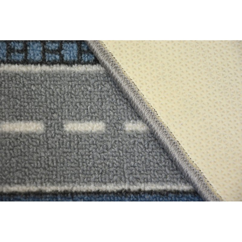 antirutsch teppich teppichboden f r kinder street blau. Black Bedroom Furniture Sets. Home Design Ideas