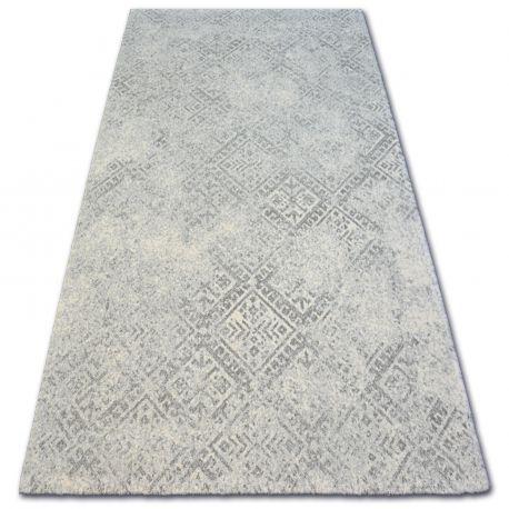 Teppich Wolle Natural Milet Hellgrau