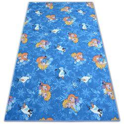 Teppichboden für Kinder FROZEN blau ELSA