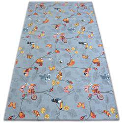 Teppichboden für Kinder HAPPY TREE grau Eulen Tiere