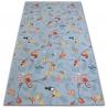 Teppich für Kinder HAPPY TREE grau Eulen Tiere