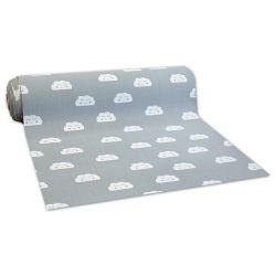 Antirutsch Teppichboden für Kinder CLOUDS grau