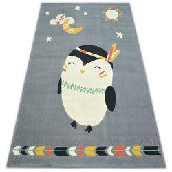 Teppich PASTEL 18401/073 - Pinguin grau