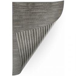 Teppich Doppelseitiges DOUBLE 29211/195 STREIFEN graphit/beige / MELANGE beige