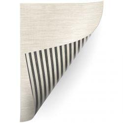Teppich Doppelseitiges DOUBLE 29211/195 STREIFEN schwarz/beige / MELANGE beige