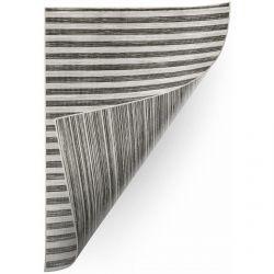 Teppich Doppelseitiges DOUBLE 29203/092 STREIFEN grau/schwarz