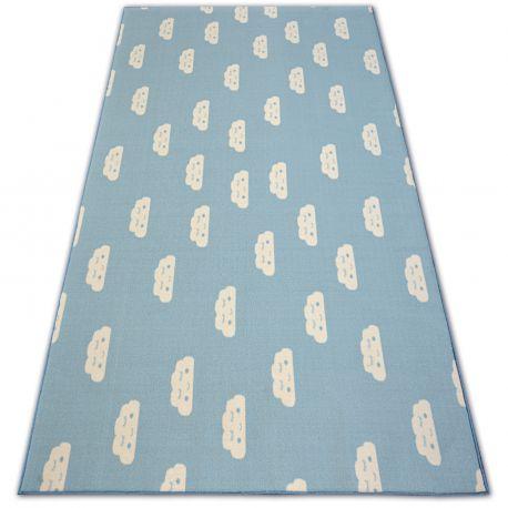 Antirutsch Teppich Teppichboden für Kinder CLOUDS blau