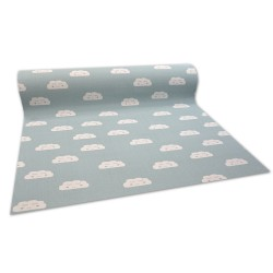 Antirutsch Teppichboden für Kinder CLOUDS grün