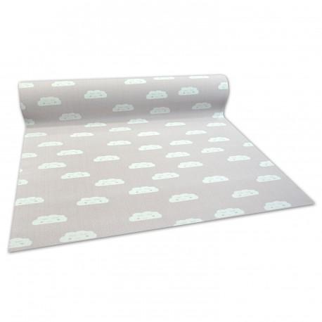 Antirutsch Teppichboden für Kinder CLOUDS pink