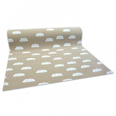 Antirutsch Teppichboden für Kinder CLOUDS beige