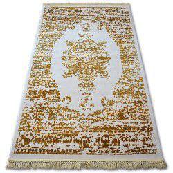 Teppich ACRYL MANYAS 192AA Elfenbein/Gold Franse