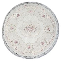 Teppich ACRYL Kreis MIRADA 0132 Sahne ( Pembe ) Franse