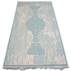 Teppich ACRYL MIRADA 5410 Blau ( Mavi ) Franse
