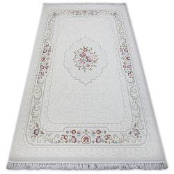 Teppich ACRYL MIRADA 5402 Elfenbein ( Kemik ) Franse