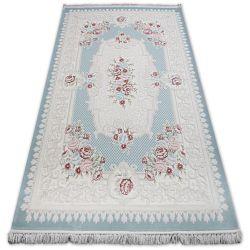 Teppich ACRYL MIRADA 5415 Blau ( Mavi ) Franse