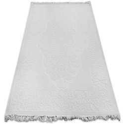 Teppich ACRYL MIRADA 5414 Elfenbein ( Kemik ) Franse
