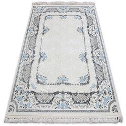 Teppich ACRYL MIRADA 0065 Sahne/Blau ( Mavi ) Franse