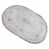 Teppich ACRYL Oval MIRADA 0132 Sahne ( Pembe ) Franse