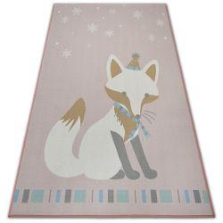 Teppich für Kinder LOKO Fuchs rosa Antirutsch