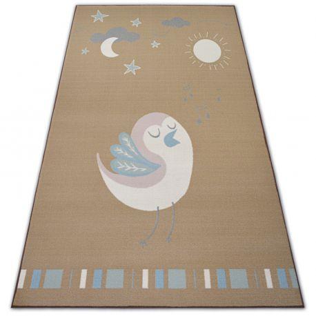 Teppich für Kinder LOKO Vogel beige Antirutsch