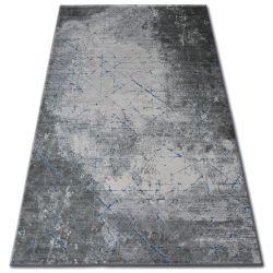 Teppich ACRYL YAZZ 6076 RISSIGER BETON grau / blau