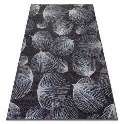 Teppich HEOS 78545 anthrazit / blau GEFIEDER