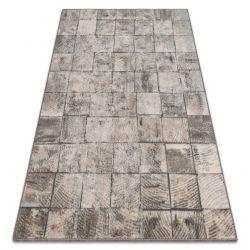 Teppich Wolle MAGNETIC Retro grau