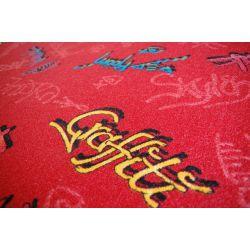 Baby-Teppich GRAFFITI rot