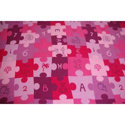 kids teppich puzzle lila. Black Bedroom Furniture Sets. Home Design Ideas