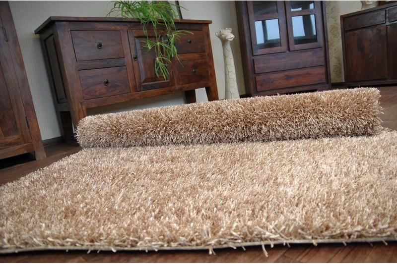 teppich angenehm zu ber hren shaggy lilou beige gute qualit t polyester ebay. Black Bedroom Furniture Sets. Home Design Ideas