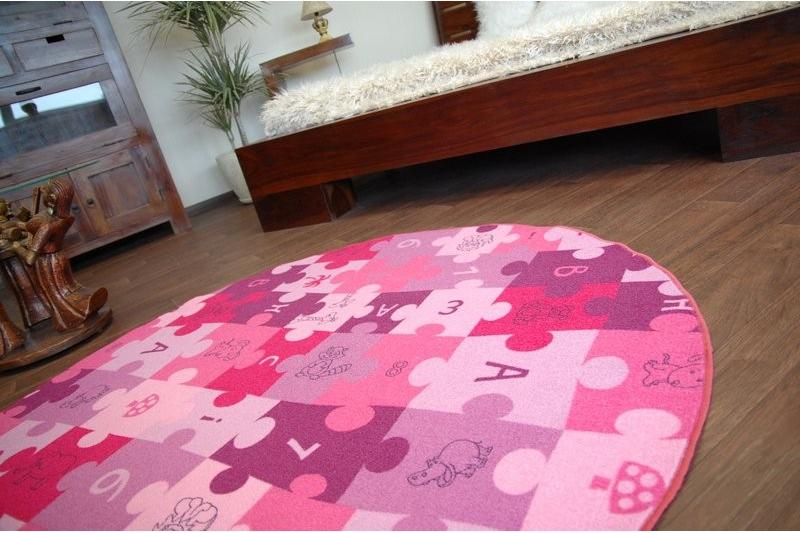 teppich kreis puzzle lila. Black Bedroom Furniture Sets. Home Design Ideas