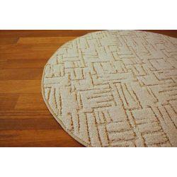 Teppich kreis KASBAR cremig