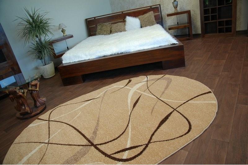 Teppich KARAMELL oval CHOCO beige