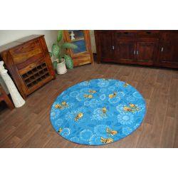 Teppich ring MAYA BIENE blau