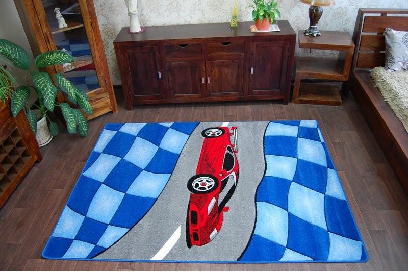 teppich f r kinder happy c227 blau auto. Black Bedroom Furniture Sets. Home Design Ideas