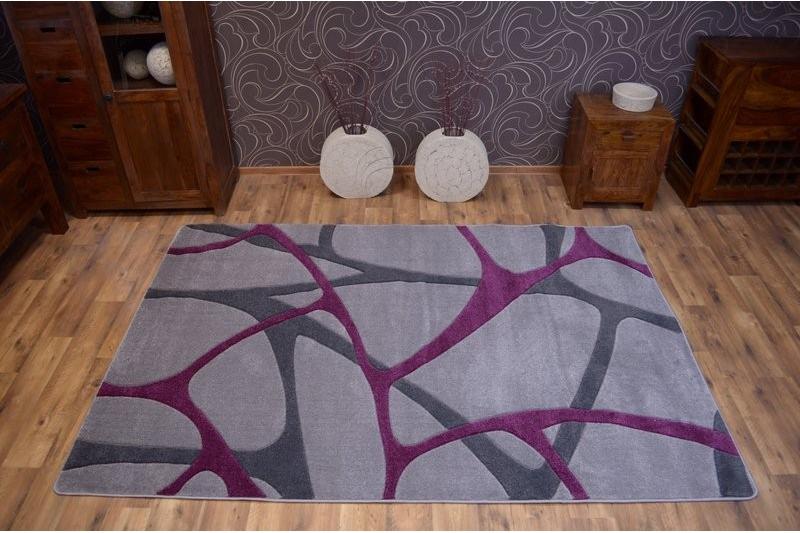 teppich focus f241 grau lila. Black Bedroom Furniture Sets. Home Design Ideas