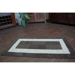 Teppich HAND TUFTED - BOXES braun