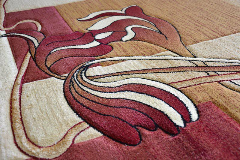 Teppich beige rosa patchwork teppich braun beige rosa in for Digitaler bilderrahmen holzoptik