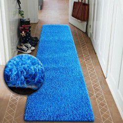 Läufer SHAGGY 5cm blau