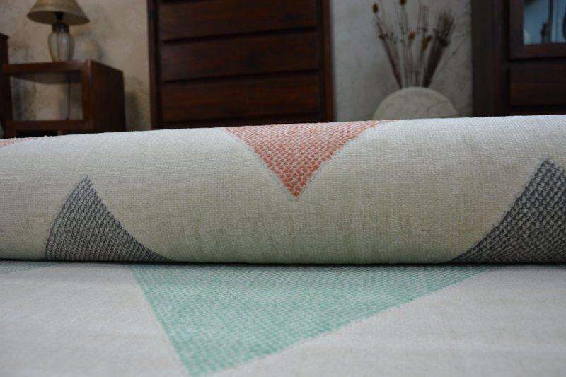 Modern Teppich CANVAS SCANDI Balta Flachflor Dicht Gewebtem Chevron Zick Zack