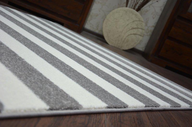Größen modernen weich teppich sketch f grau weiß gestreift