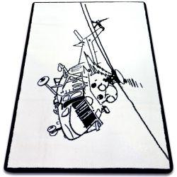 Teppich SKETCH - FA69 weiß/schwarz - Hubschrauber