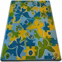 Teppich KIDS Butterfly blau C429
