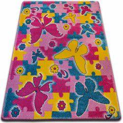 Teppich KIDS Butterfly rosa C429