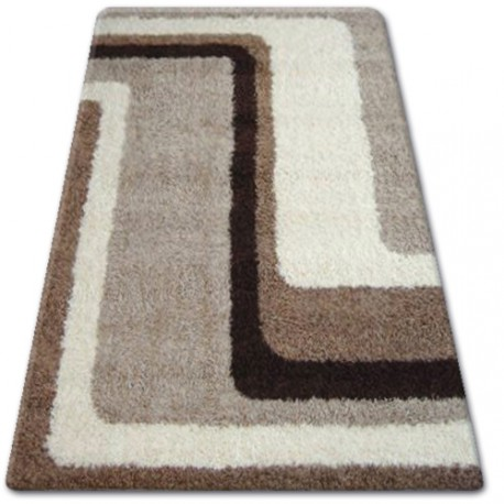 Teppich SHAGGY ZENA 2527 hellbeige / dunkel beige