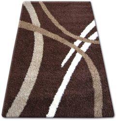 Teppich SHAGGY ZENA 4600 dunkel braun / dunkel beige