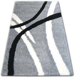 Teppich SHAGGY ZENA 4600 grau / weiß